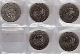 Deutschland 2 DM Schumacher 1984-87 Buchstabe G Stg 32€ Münzen Aus Präge-Anstalt Karlsruhe Extra Set Coins Of Germany - [ 7] 1949-…: BRD