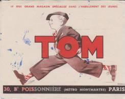 Buvard Habillement Tom Paris - Buvards, Protège-cahiers Illustrés
