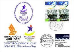 Sonderflugpost / Olympic Flight - Singapore Airlines - Singapore - Frankfurt - 14.08.2010  [dy88] - Singapur (1959-...)