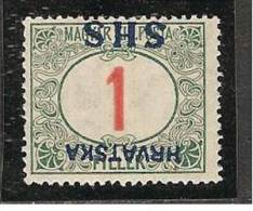 Yugoslavia Kingdom SHS Jugoslawien - Mi.Porto 27K With INVERTED Overprint Mint / MH / * 1918 - Portomarken