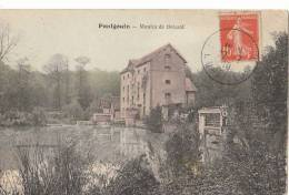28 PONTGOUIN  Belle CPA Colorisée Le MOULIN De BOIZARD Enfants Au Déversoir En 1910 - Sin Clasificación