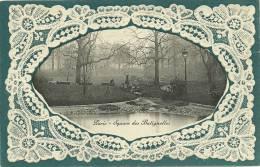 PARIS 17 - Square Des Batignolles (carte Gauffrée En Bordure)   - Demoizon (édition Rare) - Distretto: 17