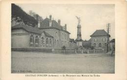 08 CHATEAU PORCIEN LE MONUMENT AUX MORTS ET LES ECOLES - Chateau Porcien