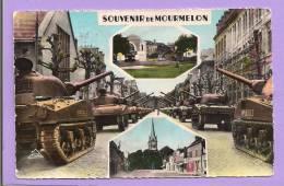 Dépt 51 - MOURMELON LE GRAND - Tanks - Le Square - Place Georges Clémenceau Et L'Eglise - Oblitérée - Mourmelon Le Grand
