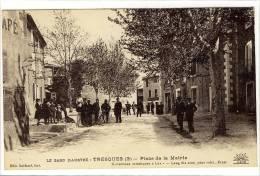 Carte Postale Ancienne Tresques - Place De La Mairie - Andere Gemeenten