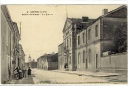 Carte Postale Ancienne Uchaud - Route De Nimes. La Mairie - Andere Gemeenten
