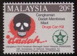 Drugs Can Kill, Skull, Death, MNH Malaysia - Droga
