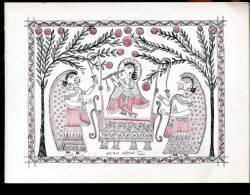 CPM Et Encart Neuf Hindouisme KRISHNA Enfant Balancé Par Les Villageois Dessin Naïf  Indien - Religión & Creencias