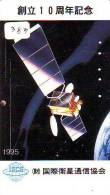 Télécarte Japon  SATELLITE (383) ESPACE * TERRESTRE * MAPPEMONDE * Telefonkarte Phonecard JAPAN * GLOBE * - Espace