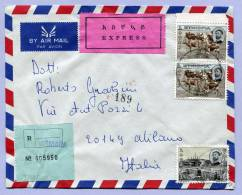 Registered Letter Air Mail Express ASMARA To MILANO Italy 1973 (125) - Äthiopien