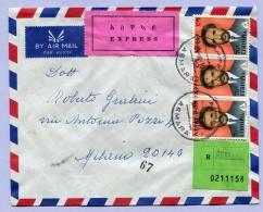 Registered Letter Air Mail Express ASMARA To MILANO Italy 1974 (126) - Äthiopien