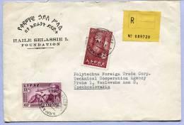 Registered Letter ADDIS ABABA To PRAHA (128) - Äthiopien