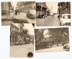 Guerre D´Algérie, PHILIPPEVILLE Rues Animées (voitures)  Lot De 4 Photos 1959 Ref 556 - Guerre, Militaire