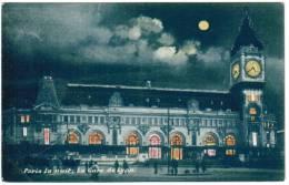 CPA Paris La Nuit, La Gare Du Lyon (pk6101) - Parijs Bij Nacht