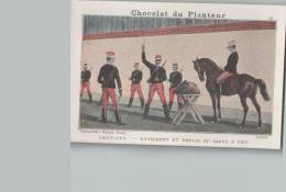 Chromo Chocolat DU PLANTEUR - N°47 Saint-Cyr Maniement Et Emploi Du Sabre à Pied - Chocolat