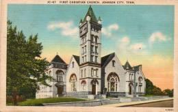 Etats-Unis > TN - Tennessee -Johnson City -First Christian Church (Eglise-Ed: Asheville Post Card  J-C-67)*PRIX FIXE - Johnson City