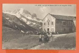Q422, Col De Balme Et L'Aiguille Verte, 4676, Animée, Circulée 1913 - VS Valais