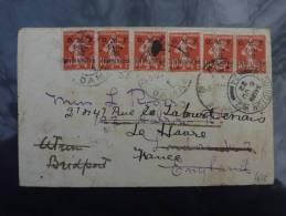 LETTRE DE DAMAS SYRIE 1922 AVEC BEL AFFRANCHISSEMENT TOUT EN SEMEUSE POUR LONDRES  SYRIA COVER