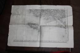 """CARTE GEOGRAPHIQUE ET MARINE DE : LORIENT SUD-EST ET  L ILE DE GROIX    """"ETAT"""" - Carte Geographique"""