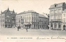 TIRLEMONT-TIENEN - Place De La Station - Traces De Collage Au Verso - Photo H. Bertels - Tienen