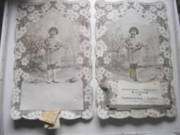 1937 PLV Carton CUBIZOLLES JULIEN Patisserie Boulangerie Epicerie FILLETTE FLEURS VINTAGE Ideal KDO Noel - Supplies And Equipment