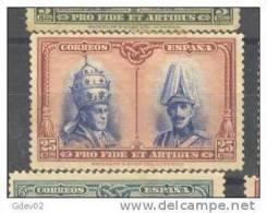 ES409-LA102TCFR.Spain.Espagne.PIO Xl Y ALFONSO Xlll.CATACUMBAS DE SAN DAMASO EN ROMA  1928 (Ed 409*) Nuevo, Con Charnela - Familias Reales