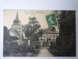 Environs De  ST-POL  (pas-de-Calais)  :  Eglise Et Château De  FOUFFLIN-RICAMETZ - Francia