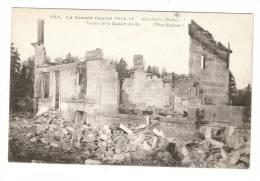 """CPA :Meuse : Régigny : Ruines ( Légende : Traces De La Kulture Boche"""" - Guerre 1914-18"""