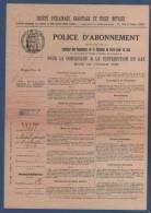 NEUILLY 1923 - POLICE D'ABONNEMENT POUR LA CONCESSION & LA DISTRIBUTION DU GAZ - INSPECTION DE LEVALLOIS - Electricité & Gaz