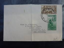 LETTRE DE SUVA FIDJI 1953 ADRESSEE EN NOUVELLE ZELANDE COVER ENGLISH COLONIE FRANCAISE - Fiji (...-1970)