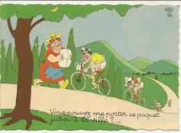 26 - VOUS POUVEZ ME PORTER CE PAQUET JUSQU'A LA VILLE ?...  - DESSIN: DUBOUT ( CYCLISME - VELO ) - Dubout