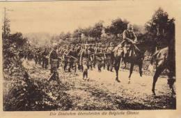 Die Deutschen überschreiten Die Belgische Grenze - Guerra 1914-18