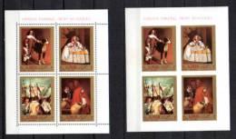 Ajman 1968, Peintures De Vélasquez, MI BK 22A / 22B**, Cote 14 € - Other