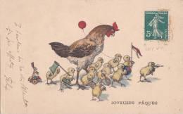 ¤¤  -  Joyeuses Pâques  -  Poule Et Poussins    -  ¤¤ - Pâques