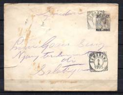 Wilhelmine Sur Enveloppe Pré-imprimée - Niederländisch-Indien