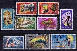 Nigeria - 1965/66 - Wildlife (Part Set, No Printers Imprint) - Used - Nigeria (1961-...)