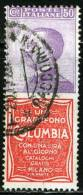 REGNO D'ITALIA, FRANCOBOLLI PUBBLICITARI, COLUMBIA, 1924, FRANCOBOLLO USATO, Scott 105c, Sassone 11 - 1900-44 Vittorio Emanuele III