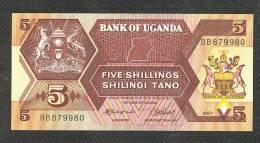 UGANDA : 5 Shilling - 1987 - UNC - Uganda