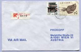 Air Mail Letter Registered BEIJING To VIENNA WIEN (140) - 1949 - ... République Populaire