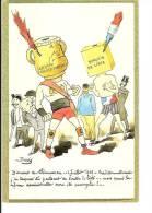 Carte De L´Assemblée Nationale : Reproduction  Caricaturale D'u Discours De Clémenceau - Satirical