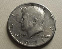 1971 - Etats-Unis - USA - HALF DOLLAR, KENNEDY, (D), KM 202b - 1964-…: Kennedy