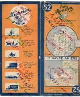 Carte Géographique MICHELIN - N° 052 LE HAVRE - AMIENS - 1943 - Roadmaps