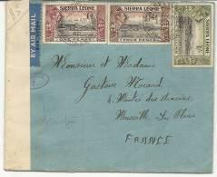LETTRE AVEC CENSURE  POUR LA FRANCE - Sierra Leone (1961-...)