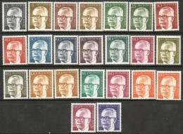 Berlin 1970-1973 - President Gustav Heinemann Definitive Set Of 23 Complete B350-B372 MNH Cat £35 SG2012 - [5] Berlino