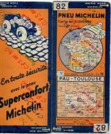 Carte Géographique MICHELIN - N° 082 - PAU - TOULOUSE - N° 3421-76 - Roadmaps