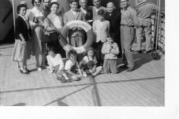 """2  Bellissime Foto  """" Famiglie Italiane Foto Ricordo  Sul Transatlantico  ANDREA DORIA"""" - Anonyme Personen"""