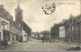 C P A  -  BEAUMONT Belgique - Grand Rue Imprimerie MERTENS - Belgique