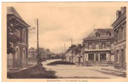 C P A 27 Bourneville Vue Générale Du Bourg Commerce étoile De David Sur Façcade 27500 Eure Normandie - Unclassified