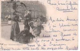 CPA ,75, PARIS,Les Fleuristes Ambulants,Animée - Petits Métiers à Paris