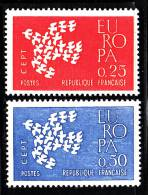 France MNH Scott #1005-1006 Set Of 2 Europa Doves Forming Larger Dove - France